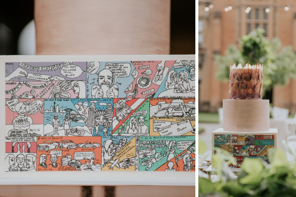 Custom Comic Wedding Cake